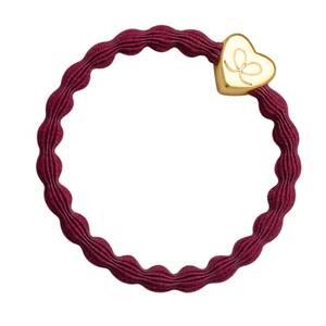 Bilde av BE Basic gold heart burgundy red