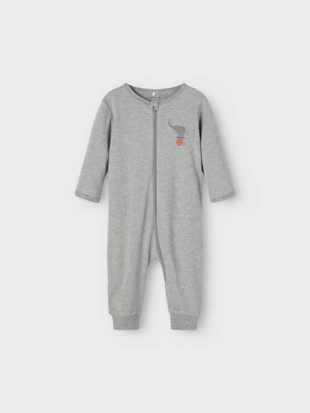 2 pk pysjamas grey melange 50-104