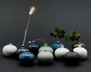 Bilde av Vase Bari Small Green Melange
