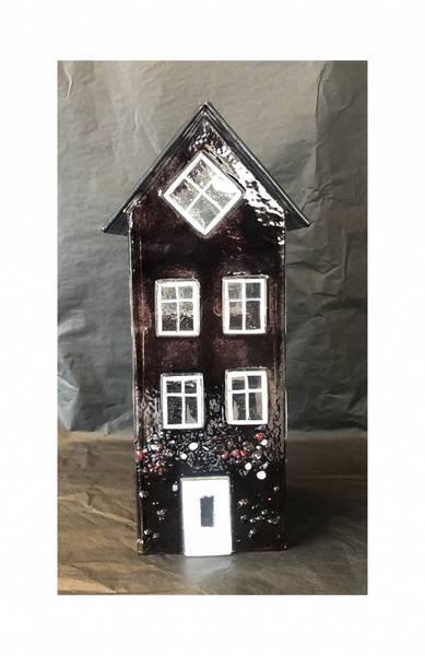 Bilde av Glass hus burgunder 26 cm