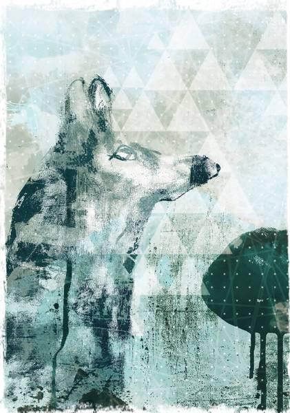 Bilde av Lone wolf 50x70 cm