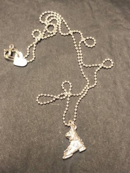 Bilde av Skistøvel kjede i sølv