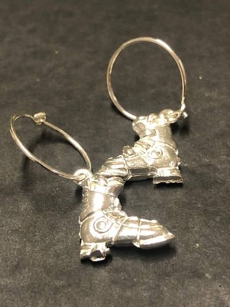Bilde av Skistøvel øredobber i sølv