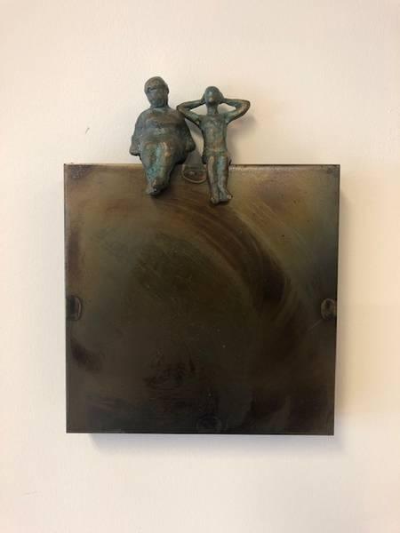 Bilde av Kjerring og Frøken 18x18 cm
