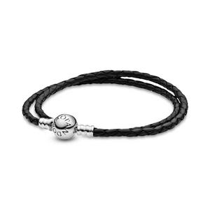 Bilde av Pandora black leather bracelet