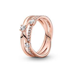 Bilde av Pandora sparkle triple band ring