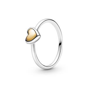 Bilde av Pandora domed golden heart ring