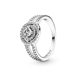 Bilde av Pandora sparkling double halo ring