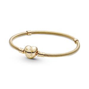 Bilde av Pandora moments heart clasp gold bracelet