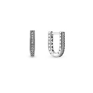 Bilde av Pandora logo u-shaped hoop earrings