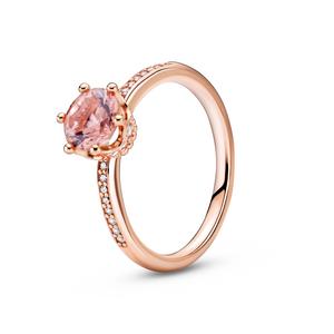 Bilde av Pandora pink sparkling crown ring