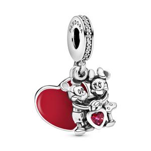 Bilde av Pandora Disney Minnie & Mickey heart dangle charm
