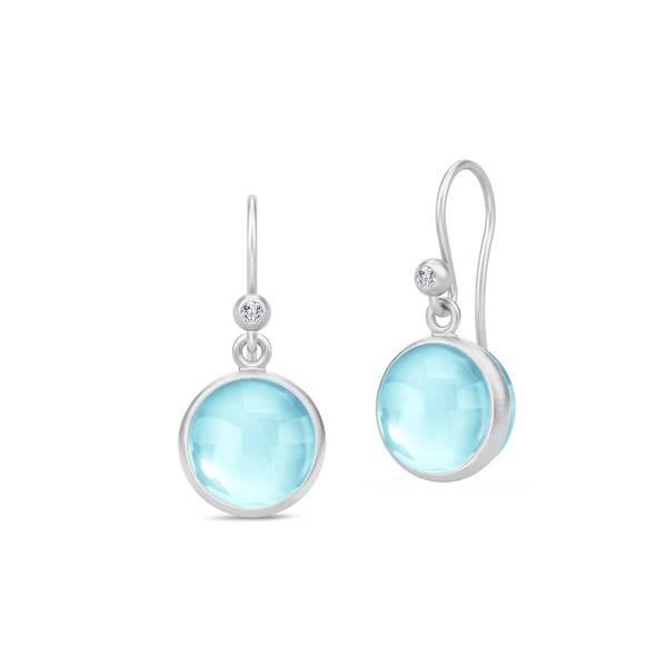 Julie Sandlau Prime Earrings Rhodium Sky Blue