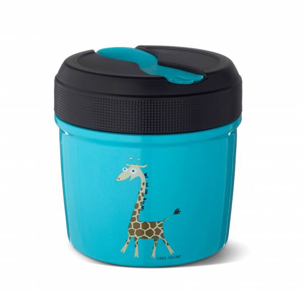 Mattermos - 0,5 liter, Blå med giraff