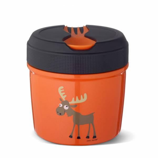 Mattermos - 0,5 liter, Oransje med elg