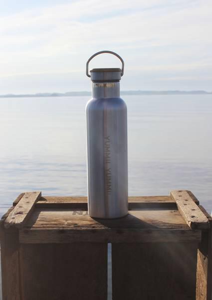 Miljøvennlig drikkeflaske i stål