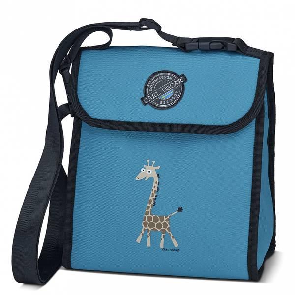 Pack'n Snack kjøleveske - 5 liter, blå med giraff