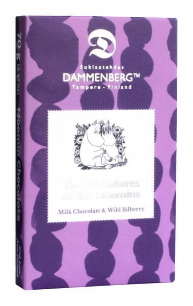 Mummi-sjokolade - melkesjokolade med blåbær