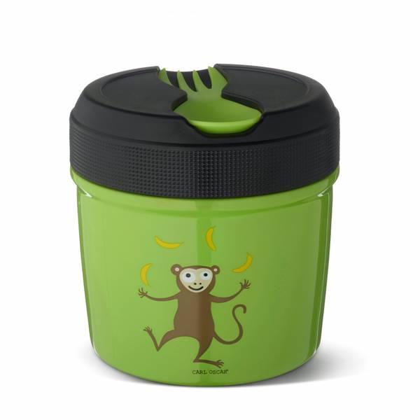Mattermos - 0,5 liter, Grønn med ape