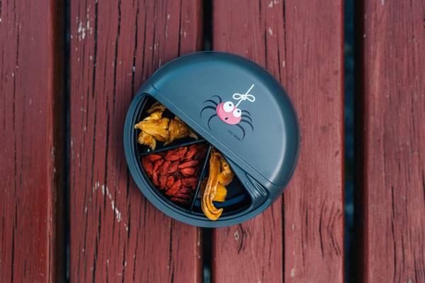SnackDisc - Grå med edderkopp