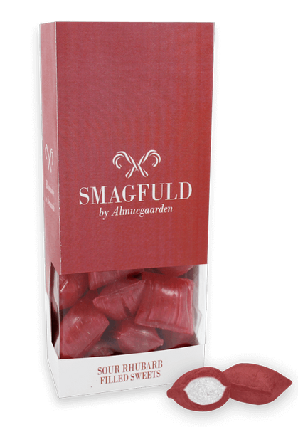 SMAGFULD - fylte drops med rabarbrasmak