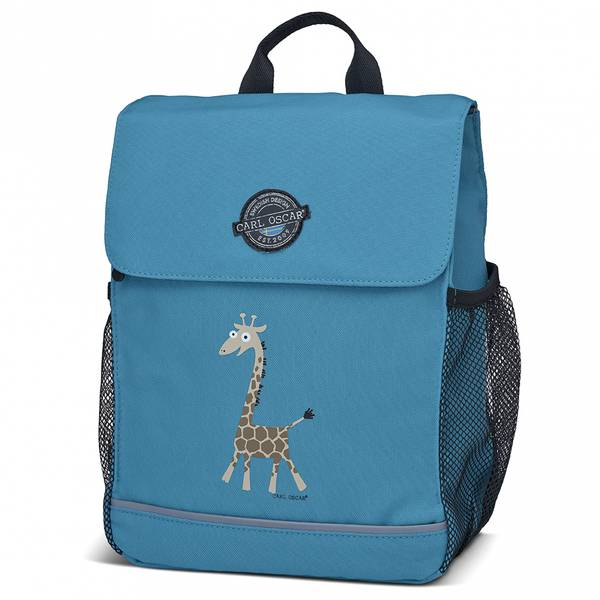 Pack'n Snack ryggsekk - 8 liter, blå med giraff