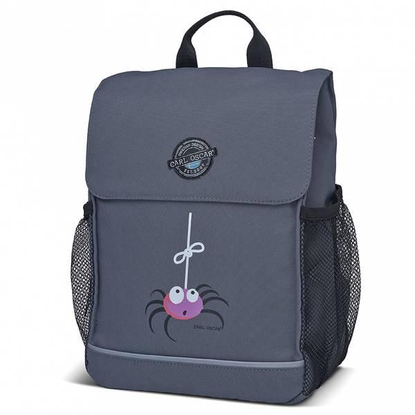 Pack'n Snack ryggsekk - 8 liter, grå med edderkopp
