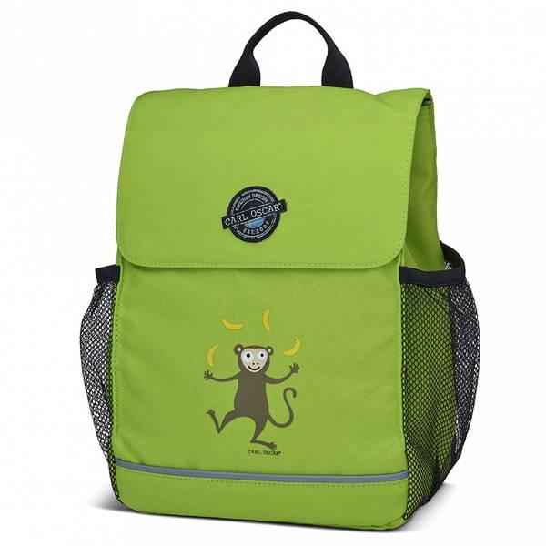 Pack'n Snack ryggsekk - 8 liter, grønn med ape