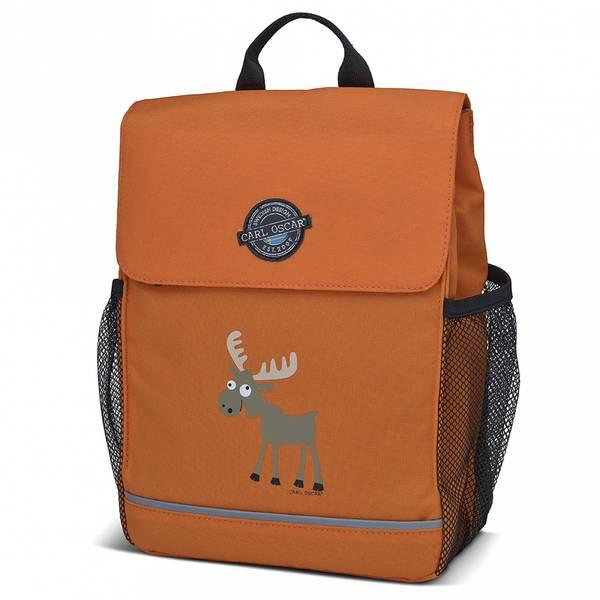 Pack'n Snack ryggsekk - 8 liter, oransje med elg