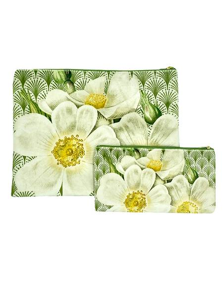 Vanilla Fly - Toalettmappe og sminkeveske, hvite roser