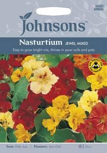 Bilde av Blomkarse 'Jewel Mixed' - Tropaeolum majus