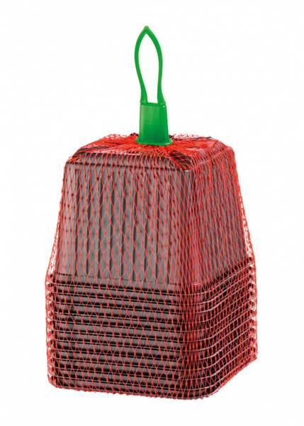 Plastpotte firkantet 9 cm, 12 stk