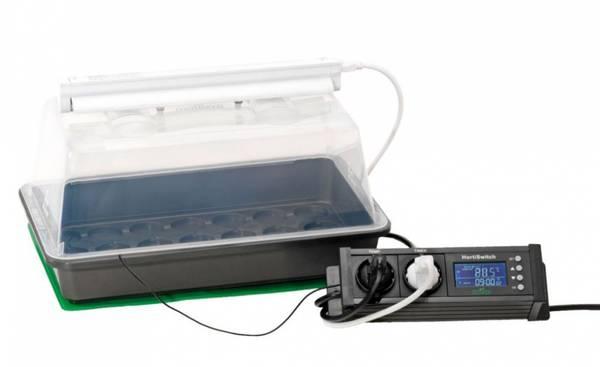 Miniveksthus, med lys, varmematte og termostat, Climatic M