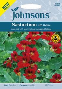 Bilde av Blomkarse 'Red Troika' - Tropaeolum majus