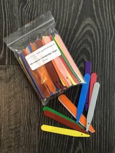 Bilde av Etiketter 10 cm, flere farger - 100 stk