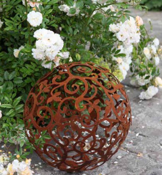 Dekorkule - barokk, vinblader 50 cm