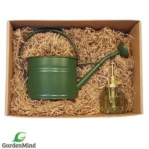 Bilde av Gaveeske, vannkanne grønn 1,7 l og tåkesprayer i glass