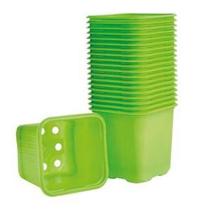 Bilde av Plastpotte firkantet, limegrønn 6 cm