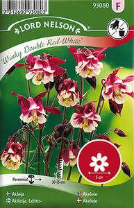 Bilde av Akeleie 'Winky Double Red & White' - Aquilegia