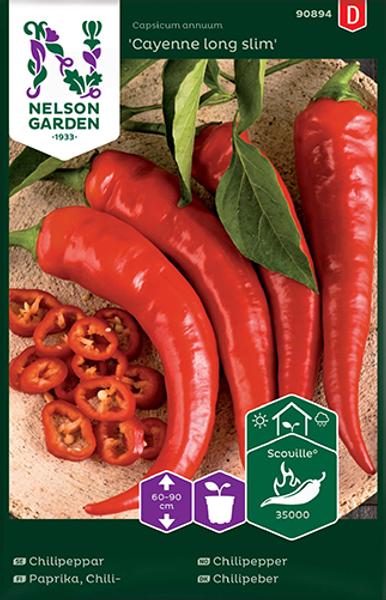 Chilipepper 'Cayenne Long Slim' - Capsicum annuum