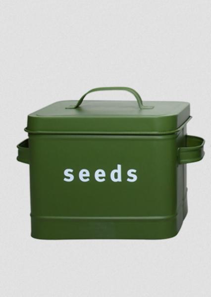 Frøboks seeds, mosegrønn