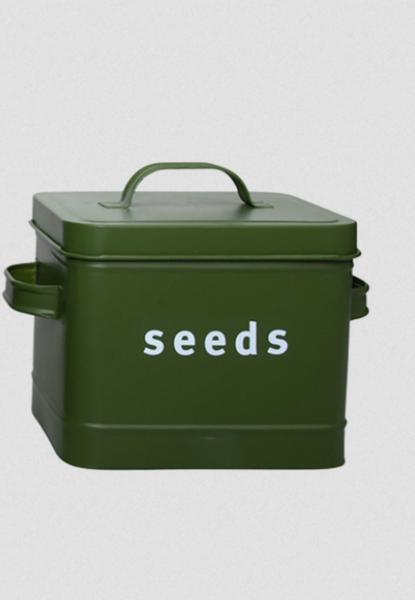 Frøboks seeds, skogsgrønn