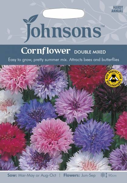 Kornblomst 'Double Mixed' - Centaurea cyanus