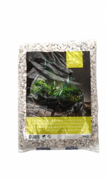 Pyntegrus til terrarium, hvit 5 kg