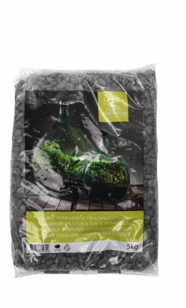 Pyntegrus til terrarium, svart 5 kg