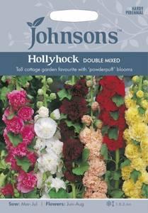 Bilde av Stokkrose 'Double Mixed' - Alcea rosea