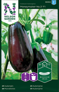 Bilde av Aubergine 'Moneymaker No.2'  F1 - Solanum melongena