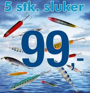 Bilde av 5 stk Sluker - mix