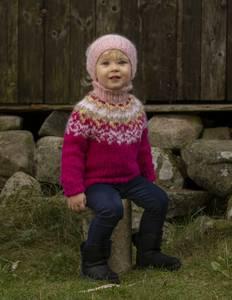 """Bilde av 2027-1d """"Nova""""-genser og lue. VIKING GARN"""
