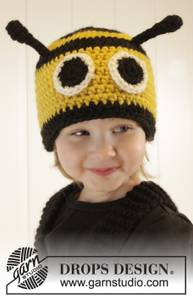 Bilde av Bee Happy Hat by DROPS Design
